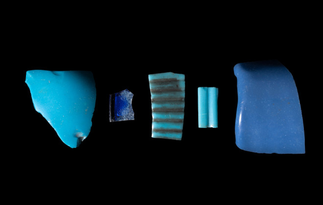 Egyptian vessel fragments, New Kingdom, 18th Dynasty, c.1550-1295 BC, and Roman Period, c.1st century AD