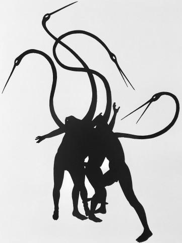 Peter Hristoff, Black Cranes, 2017
