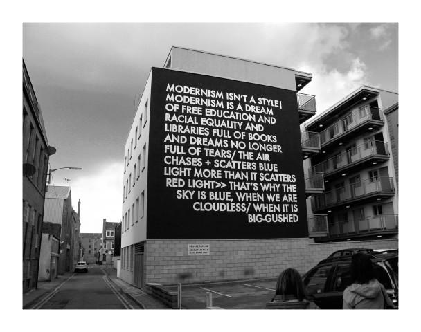 Robert Montgomery, Hammersmith Poem Aberdeen Mural, 2017