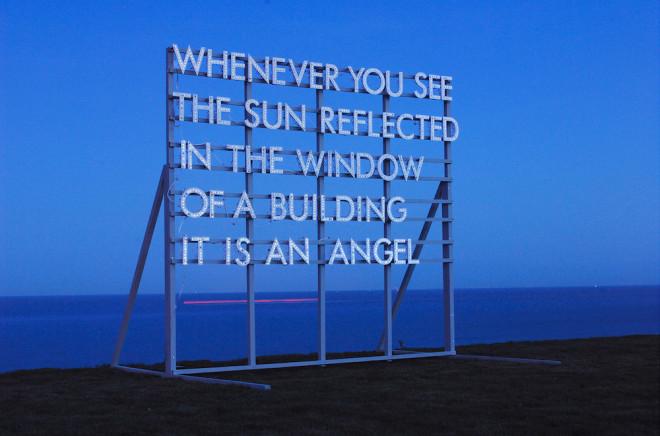 Robert Montgomery, Angel Piece, 2016