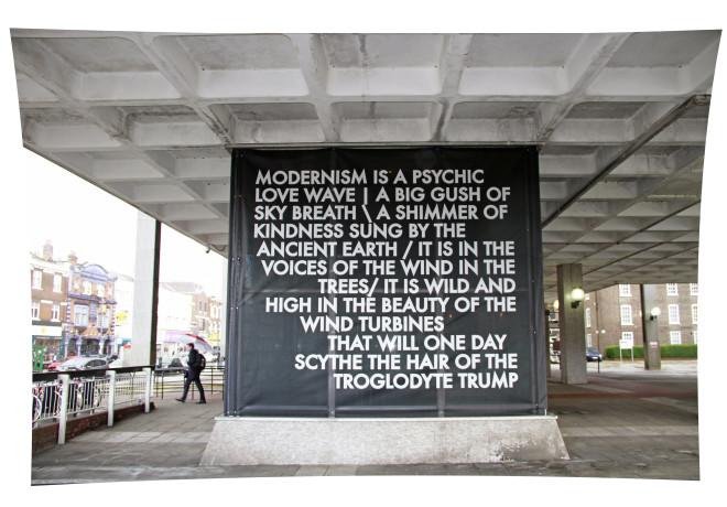 Robert Montgomery, Hammersmith Poem, 2017