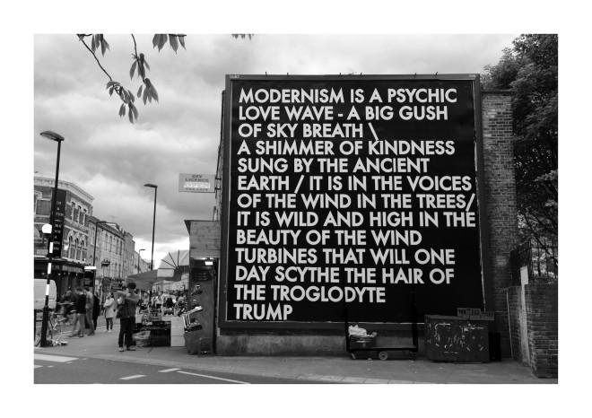 Robert Montgomery, Broadway Market Billboard, 2017