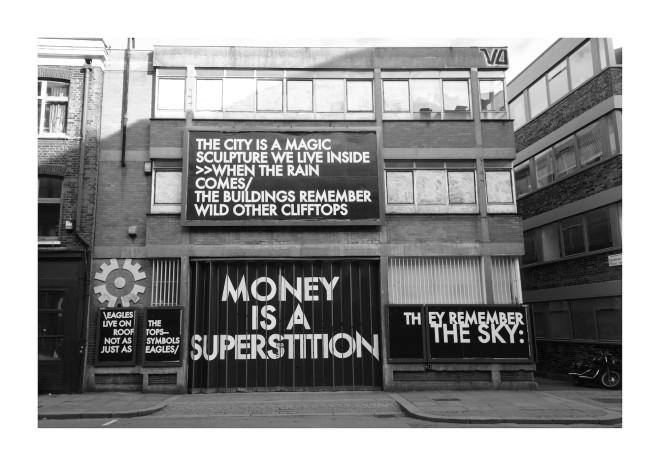 Robert Montgomery, Hammersmith Poem Curtain Road Billboard, 2017