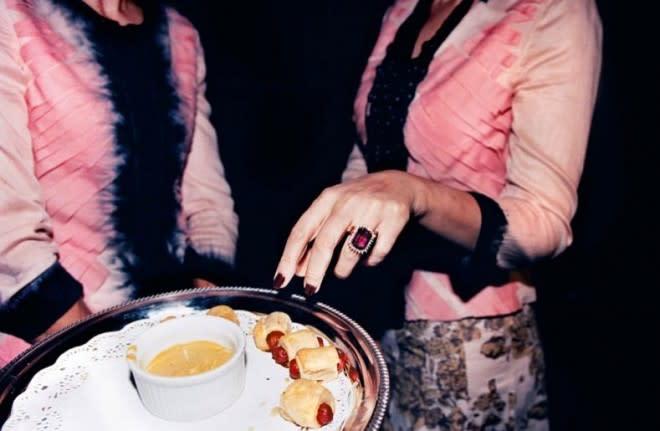 Jessica Craig-Martin, Tye-Dye Prada Weiners (Mama Gina Sex Lecture, New York), 2004
