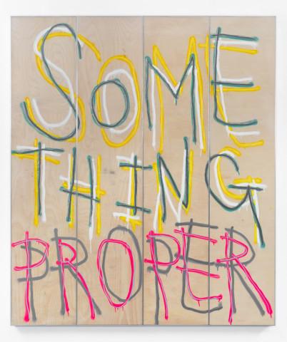 Thomas Langley, Something Proper, 2018