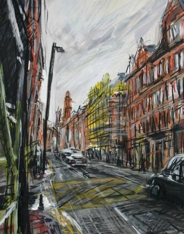 Matthew Thompson, Yellow Scaffolding Princess Street