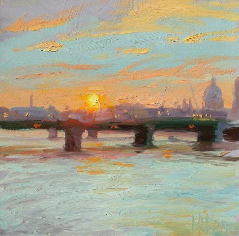 Norman Long MAFA, Sunset Over Southwark