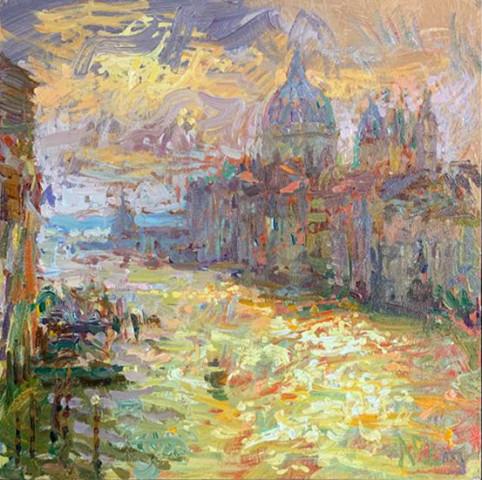 Norman Long MAFA, Morning Glare, Grand Canal