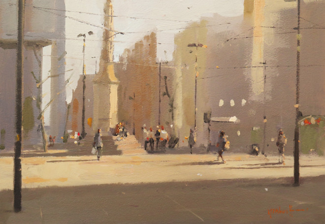 Michael Ashcroft MAFA, Bathed in Sunshine, St Peter's Square, Manchester