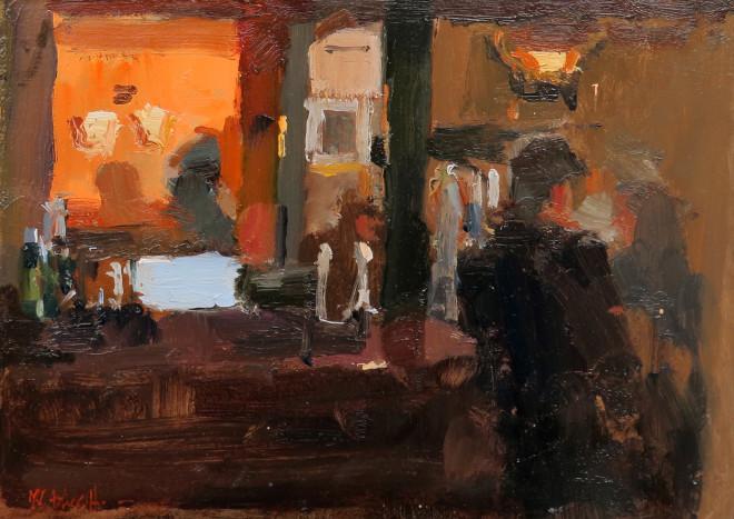 Michael Ashcroft MAFA, Propping up the Bar, Sam's Chop House, Manchester