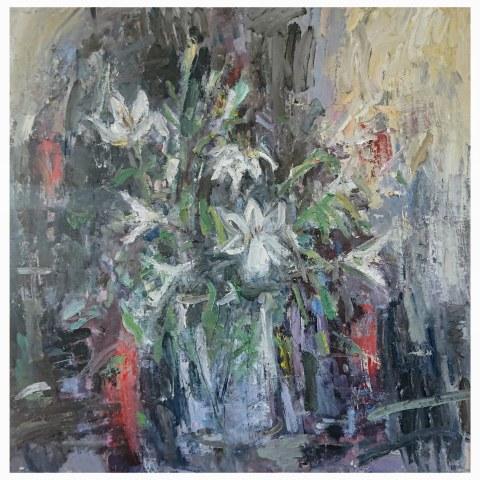 Ian Norris MAFA, Vase of Lillies