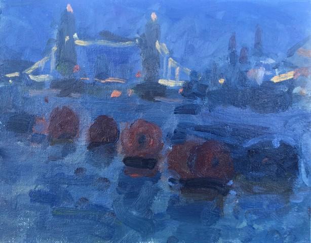 Adam Ralston MAFA, Tower Bridge, Nocturne