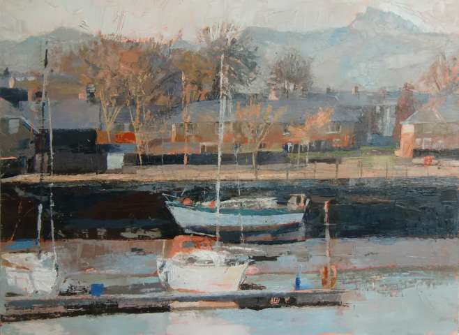 Anne Aspinall MAFA, Three Boats, Porthmadog, 2019