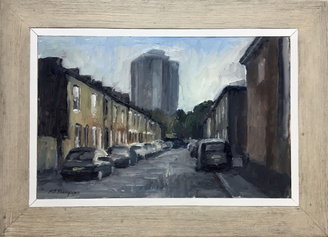 Alan James Thompson, Street with Block of Flats