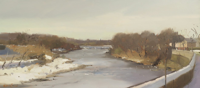 Michael Ashcroft MAFA, March Snow, River Ribble, Preston, Lancashire, 2018