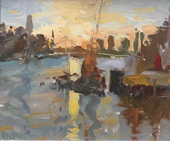 Adam Ralston MAFA, Sunset From Chelsea Bridge, 2018