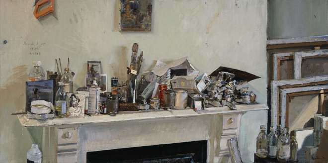 Peter Brown ROI NEAC, Studio Mantle Clutter