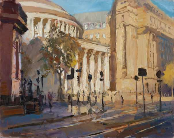 Rob Pointon ROI, Sunbathed Portico, Central Library, 2020