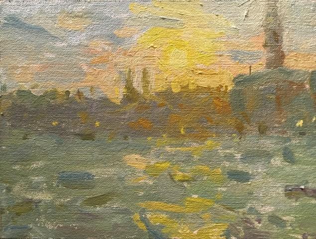 Adam Ralston MAFA, Grand Canal, Sunset, 2018