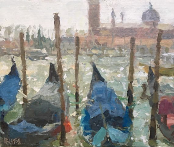 Adam Ralston MAFA, Gondolas on the Grand Canal, 2019