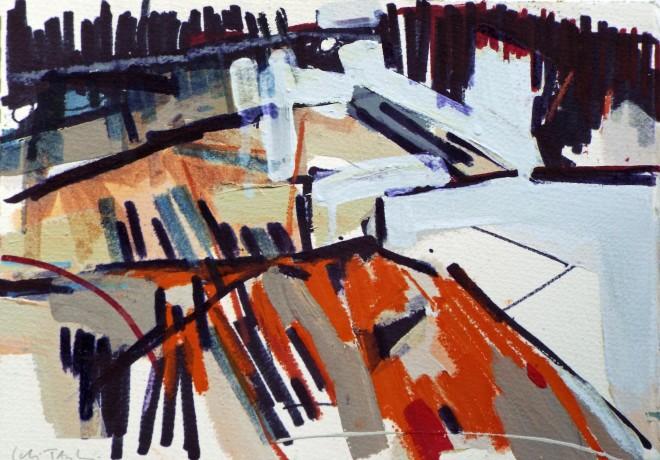 Colin Taylor MAFA, Spinningfields Site Drawing #1
