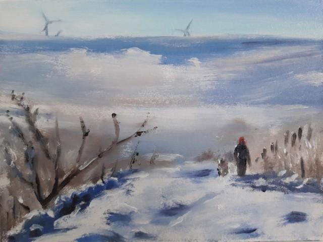 Liam Spencer, Winter Dog Walk I, 2018