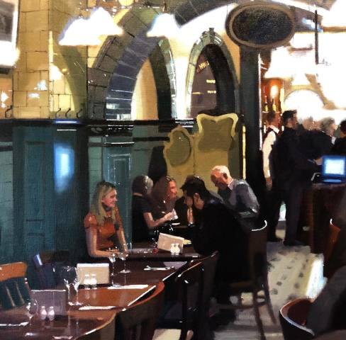 Michael Ashcroft MAFA, First Date, Mr Thomas's Chop House, Manchester