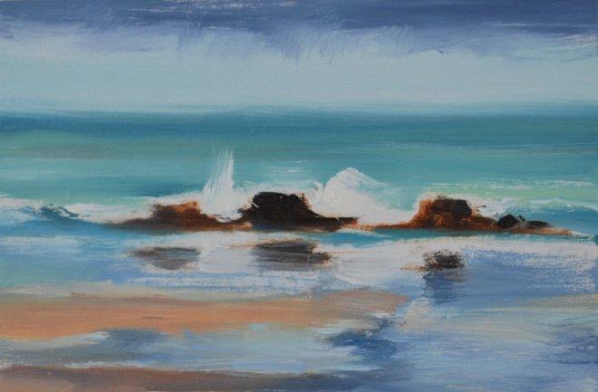 Liam Spencer, Rain, Porthmeor Beach, 2018