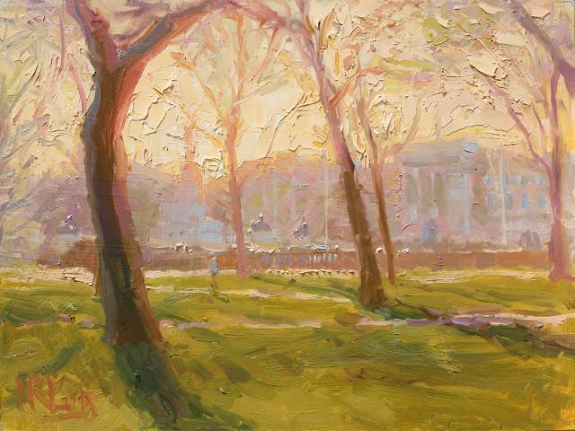 Norman Long MAFA, The Palace from Green Park, 2020