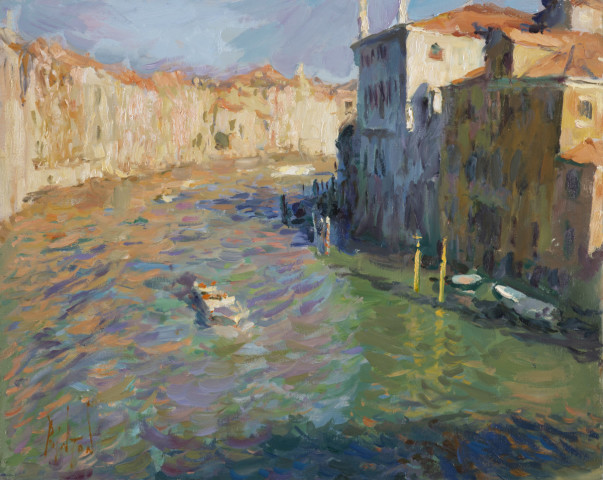 Rob Pointon AROI RBSA MAFA, Morning Light on the Grand Canal from Ponte dell'Accademia, 2019