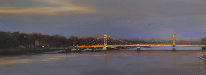 Michael Ashcroft MAFA, Albert Bridge Reflections, London, 2019