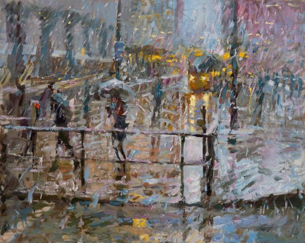 Rob Pointon AROI RBSA MAFA, Snow Flurry, St. Peter's Square