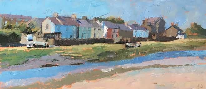Anne Aspinall MAFA, Sunlit Houses, Aberffraw