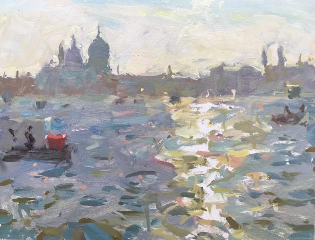 Adam Ralston MAFA, Setting Sun On The Grand Canal, 2018