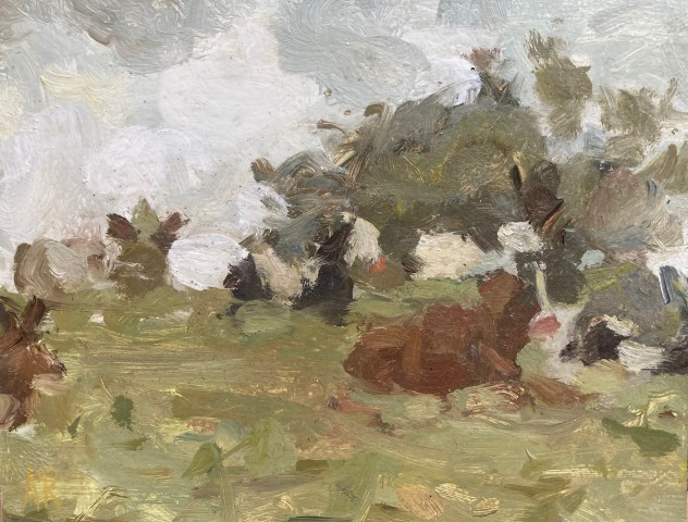 Adam Ralston MAFA, Cows On The Hill