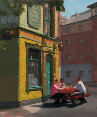 Michael Ashcroft MAFA, First Pint, Manchester