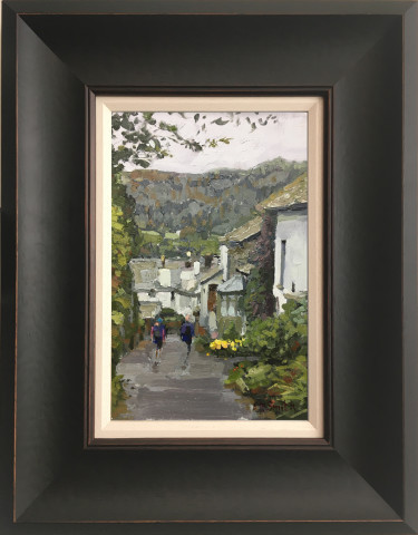 Steven Smith, Hawkshead Walkers, Heading Down to Anne Tyson's Cottage (Where Wordsworth Lodged)