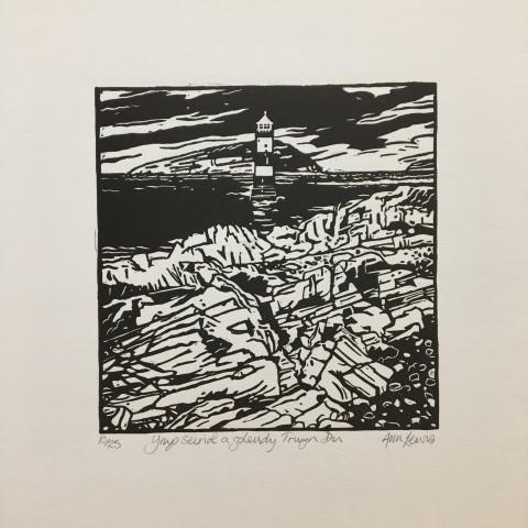 Ann Lewis RCA, Ynys Seiriol a goleudy Trwyn Du [Puffin Island and Trwyn Du Lighthouse]