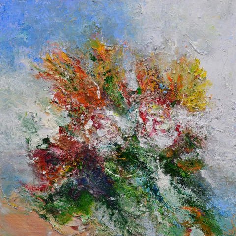 Matthew Bourne, White Roses, Spring Bouquet, 2020