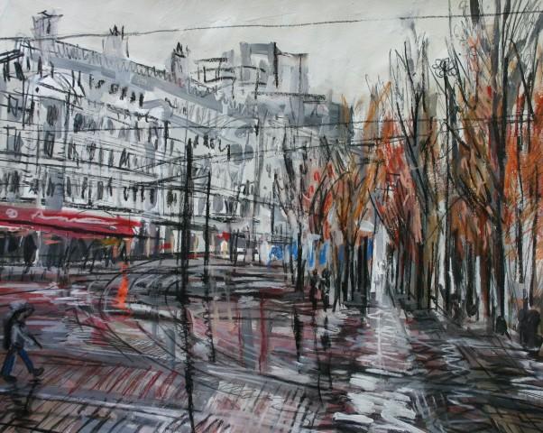 Matthew Thompson, Rainy Day, Piccadilly Gardens