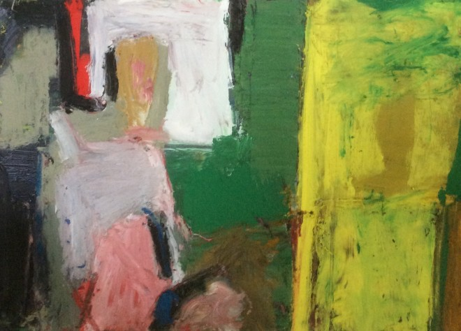 Arthur Neal NEAC, Studio and Garden with Figures