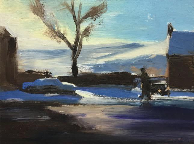 Liam Spencer, Winter Dog Walk, 2019