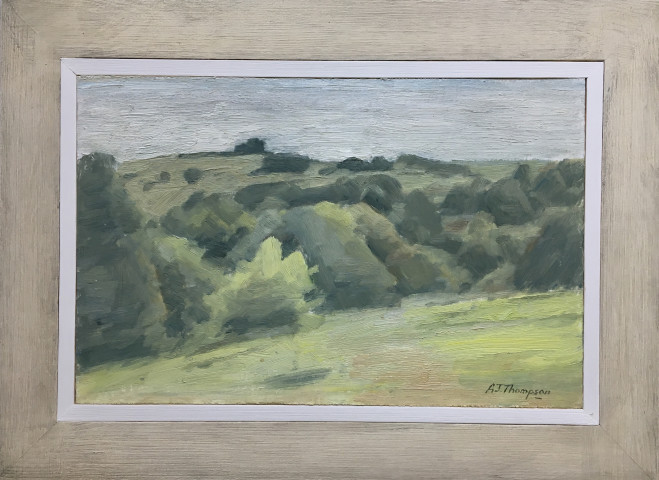 Alan James Thompson, Landscape with Bushes