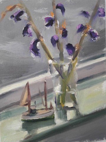 Liam Spencer, Toy Boat and Flowers