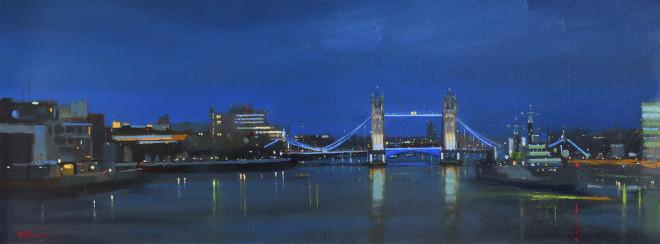 Michael Ashcroft MAFA, London Nights, Tower Bridge, 2019