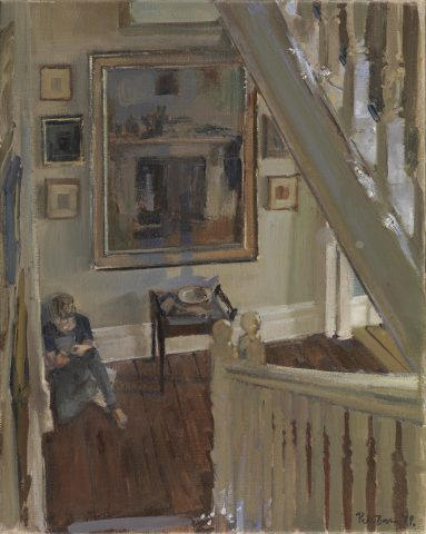 Peter Brown ROI NEAC, Ned on the Landing