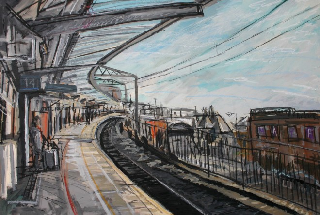 Matthew Thompson, Waiting for the Train Home, Platform 14