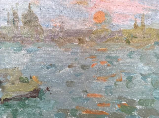 Adam Ralston MAFA, Orange Sunset, Venice, 2018