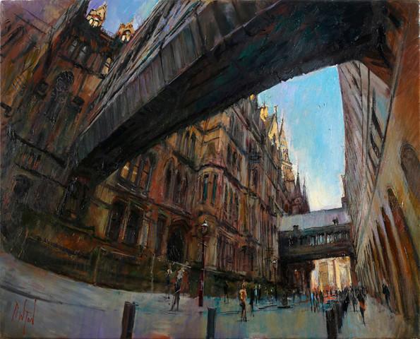 Rob Pointon ROI RBSA MAFA, Bridges Over Lloyd Street, Manchester, 2015
