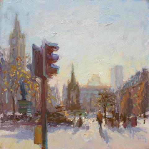 Norman Long MAFA, Late Autumn, Albert Square, 2020